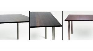 Tisch Esstisch aus Wenge massiv geölt mit Tunghöl Edelstahl