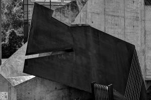 """Günther Domenik, Steinhaus; Detail, Stonehouse, Architektur, Fotogtrafie, Architekturfotograf, analog, sinar 4x5"""""""