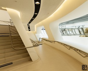 Zaha Hadid learning center Vienna campus wu LC Wien
