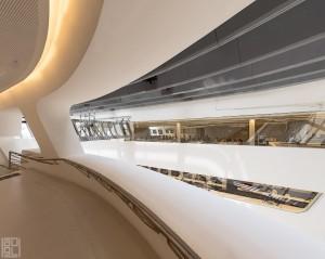 "Zaha Hadid, Architektur, Architekturfotografie, analog, 8x10"" Grossbild, Grossbildfotografie, WU, Innenansicht"
